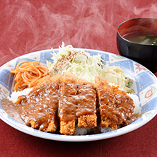 長岡市金子屋「洋風カツ丼」の画像