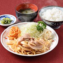 長岡市金子屋「生姜焼定食」の画像