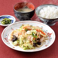 長岡市金子屋「野菜炒め定食」の画像